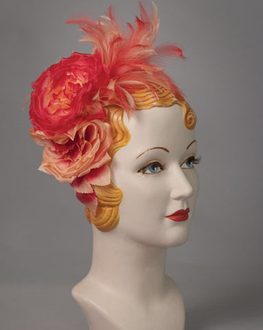 3136FS Fascinator, scarlet