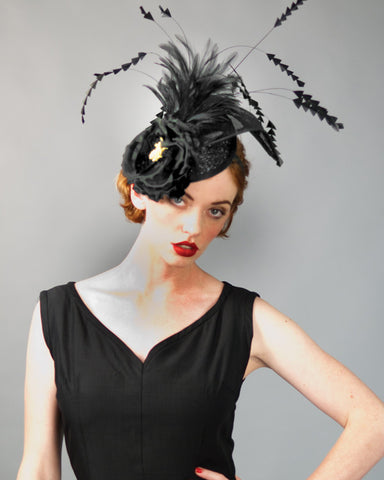 3141FS Fascinator, black