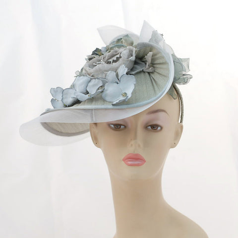 ZP3143FS Special Fascinator Q: Stormy Weather, seafoam