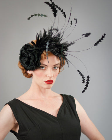 3167FS Fascinator, black