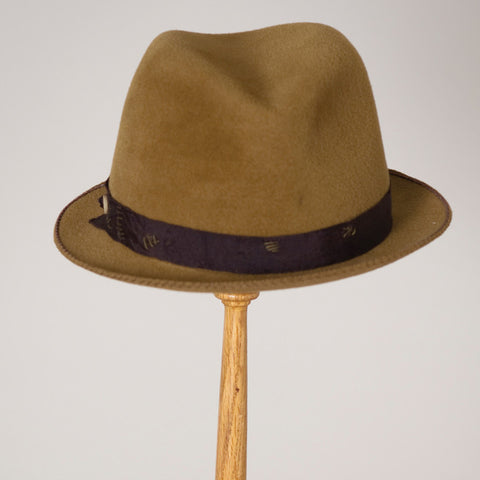 4149FDV Fedora, old gold w/brown