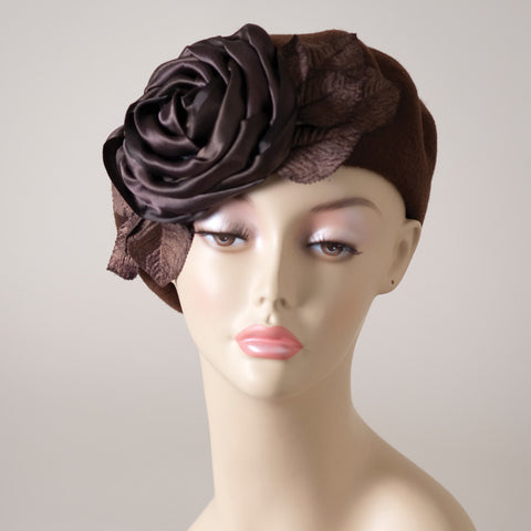 4153SBF Small Beret, brown