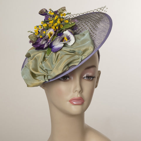 5129WY Whimsy, lavender w/ multi
