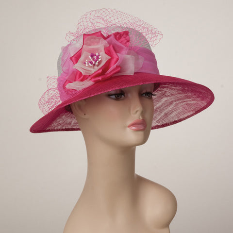 5190ELSP Elizabeth, white/hot pink