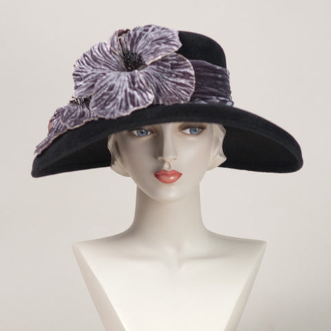 6313AYV Amy, black with lavender grey