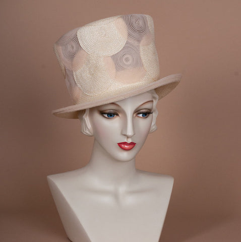 7232TPPH Top Hat, ballet Peach