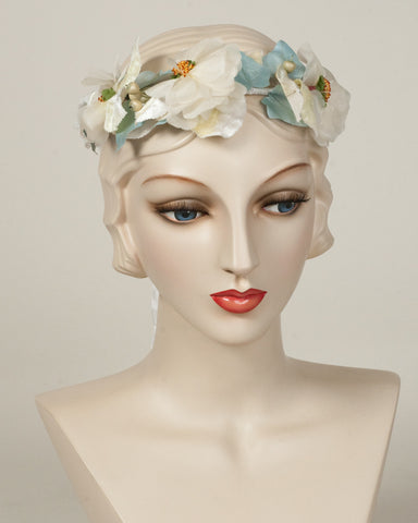 9328FW Flower Wreath, denim