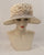0945ANSP Angelina, Parisisal crown/sinamay brim, natural with tea