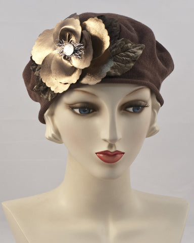 0951SBC Small Beret, brown