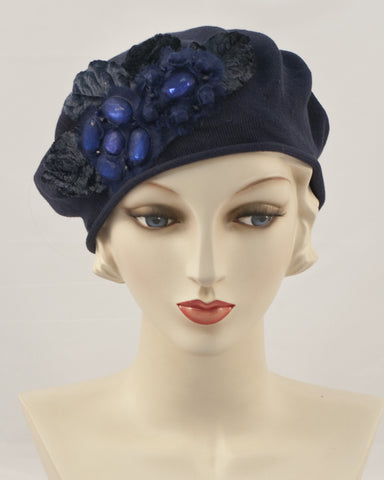 0953SBC Small Beret, navy