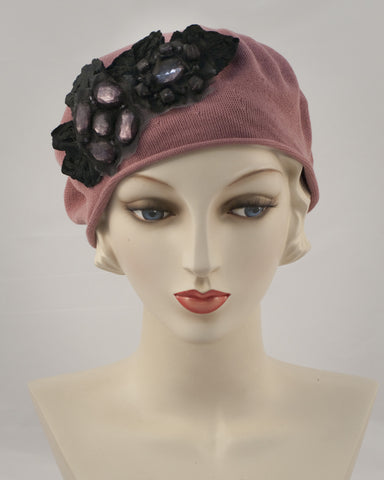 0953SBC Small Beret, dusty rose