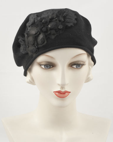 0953SBC Small Beret, black