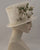 0961TPOW Top Hat, open weave, off white with vintage flowers