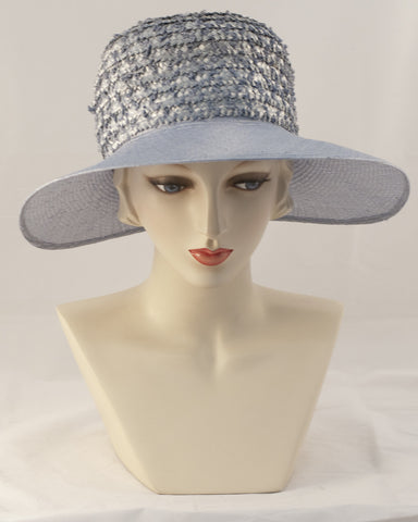 0986HL Helena, braid crown/sisal brim, denim