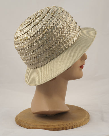 0986SA Sadie, braid crown/sisal brim, lawn