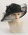 0991VGSP Virginia, sisal crown/sinamay brim, black