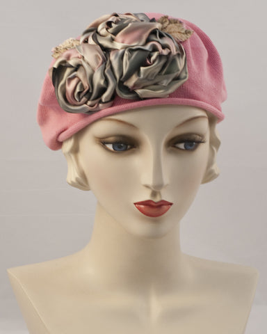 0999SBC Small Beret Cotton,  rose