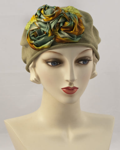 0999SBC Small Beret Cotton,  sage