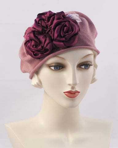 0999SBC Small Beret Cotton,  dusty rose