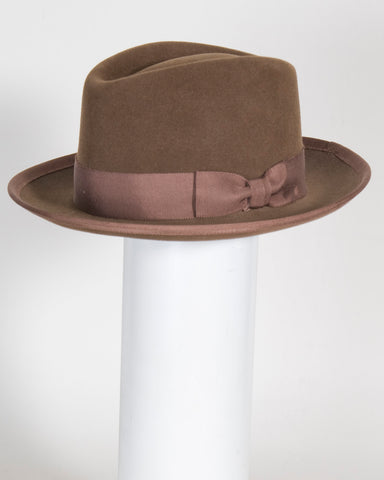 "F0389 David, sueded finish felt, tobacco, 2 1/4"" brim, Headsize 23 1/8"""
