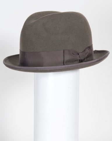 "F0393 Frank, suded finish felt, dk taupe, 1 3/4"" brim, Headsize 22 1/8"""