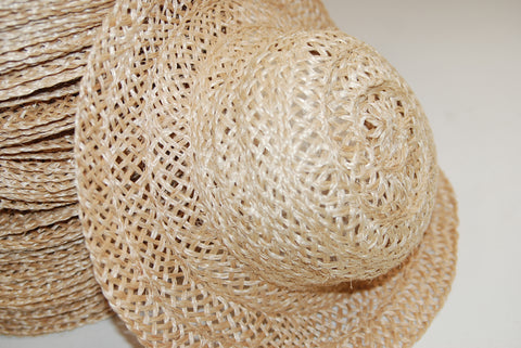 SAC104 5mm Abacca straw hat body, one dozen (12)