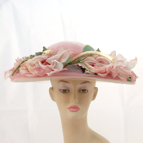 V999 Vintage: Rex Beverly Hills Made to Order, platter hat, one size fits all
