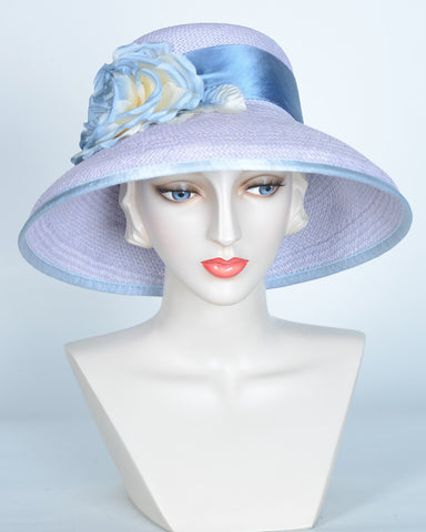 QH623 Audrey, Panama, lavender with denim