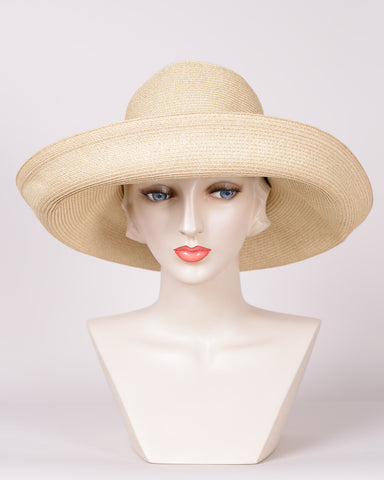 QH766 Bumper Brim, sewn braid, natural