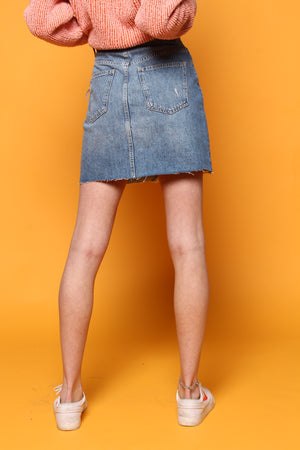 Free People Hallie Denim Skirt