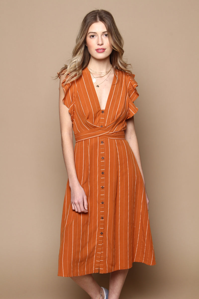 Astr The Label Saturate Midi Dress
