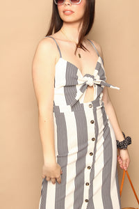 Bishop & Young Front Tie Button Up Dress