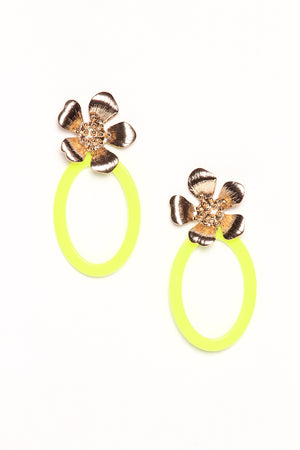 Glow Up Flower Hoops