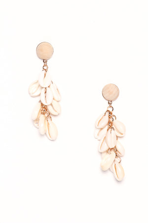 Cascade Cowrie statement Earrings