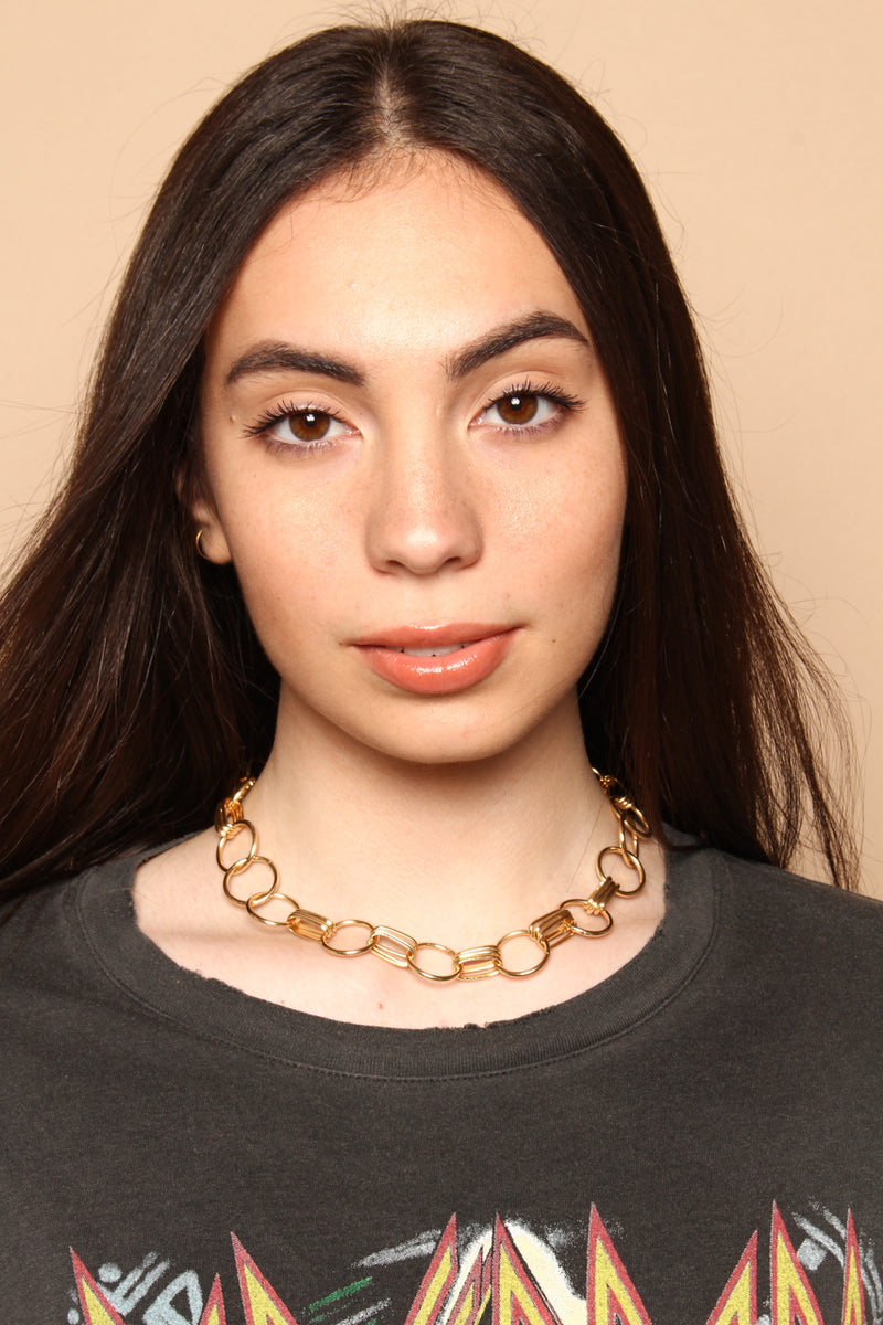 Linked Ring Collar Necklace
