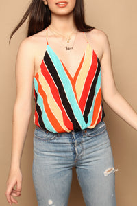 Astr The Label Amber Striped Bodysuit