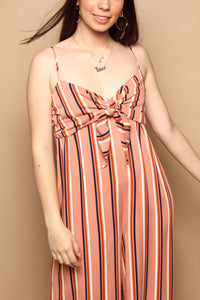 BB Dakota Just My Stripe Wide Leg Jumpsuit