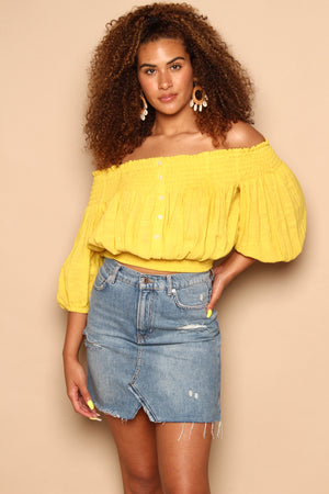 Free People Dancing Til Dawn Off The Shoulder Top