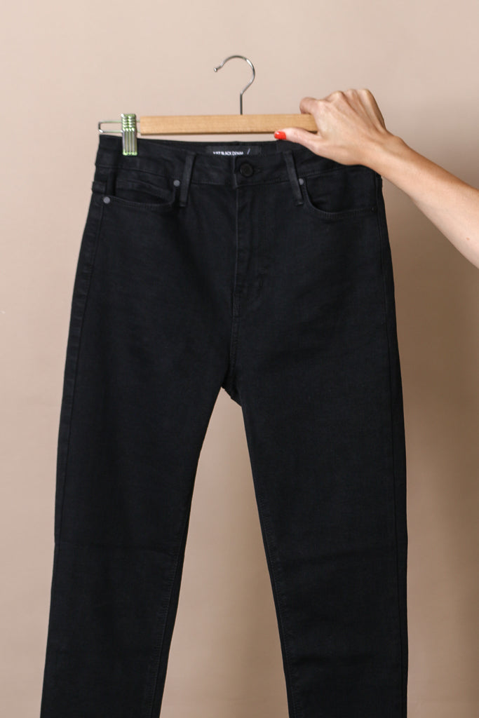 Just Black Cut Off Skinny Jeans