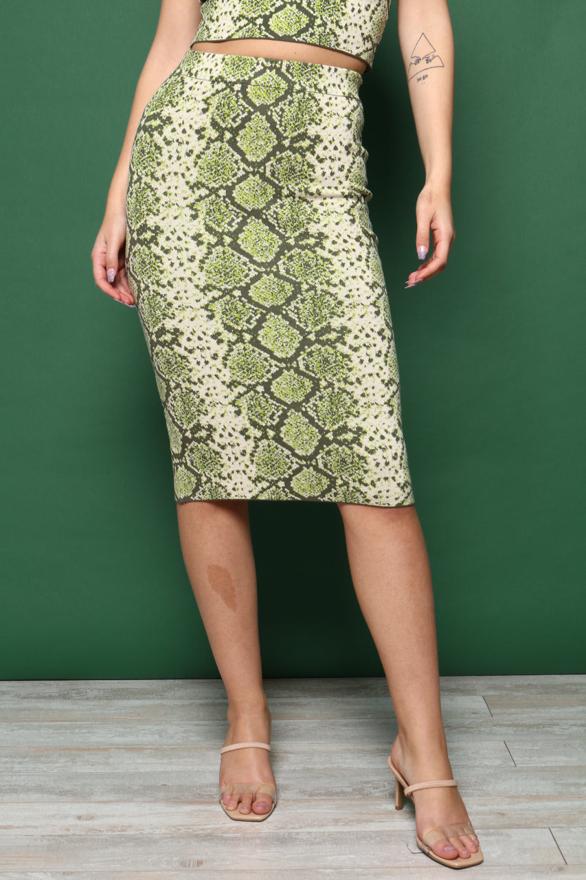 J.O.A Pencil Sweater Midi Skirt