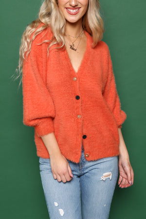Moon River Oversize Balloon Sleeve Cardi