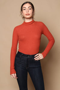Free People All You Want Bodysuit - Brick