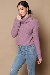 Free People Stormy Cropped Pullover - Lavender