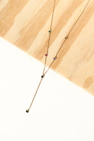 Multi Color Stone Necklace