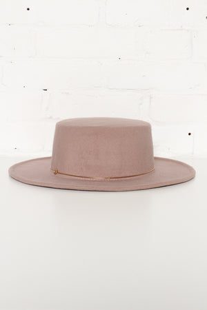 Stay A While Wide Brim Hat - Mink