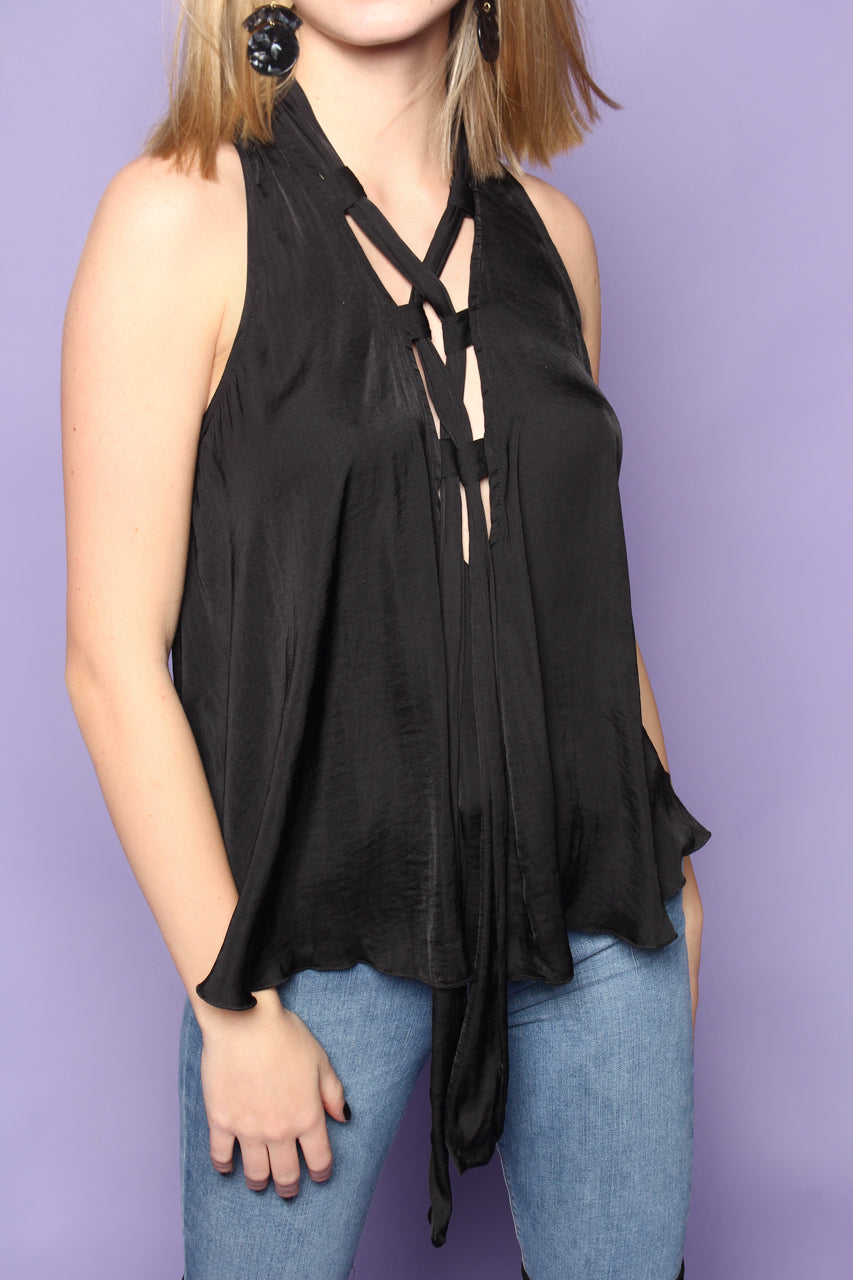 Free People Here With Me Cami - Black