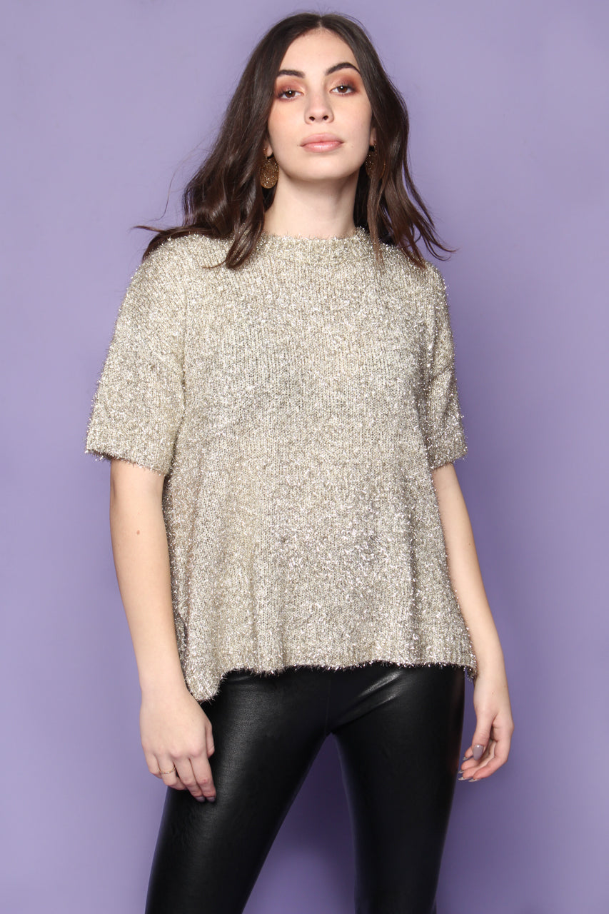 Tinsel Town Boxy Tee - Gold
