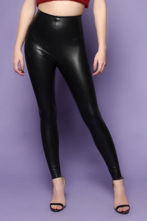 Commando Perfect Control Faux Leather Legging - Black