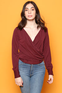 Gentle Fawn Andes Surplice Top - Deep Auburn