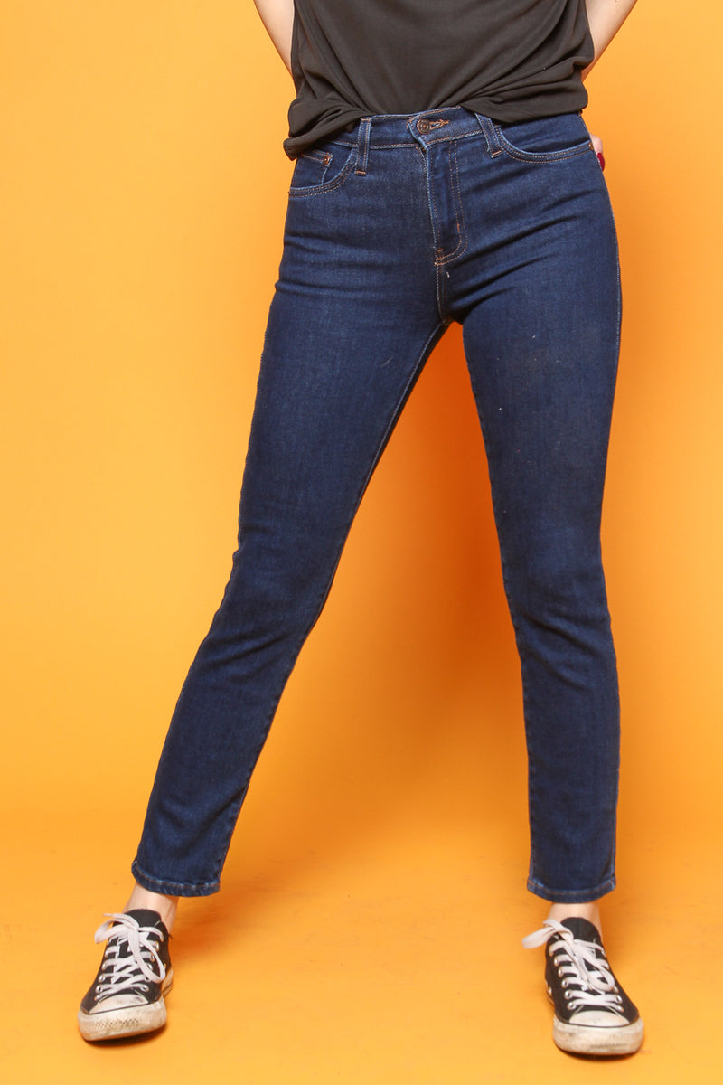 Just Black Highrise Clean Cigarette Jean - Dark Denim